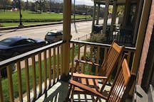 Front porch views of the Galena River, and just steps from downtown.