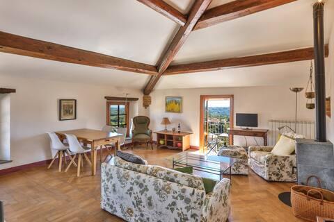 Villa Pesce, Cortese, 2 Zi Apt. mit Panoramasicht