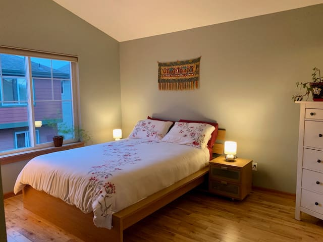 Light filled master bedroom, with private bath!