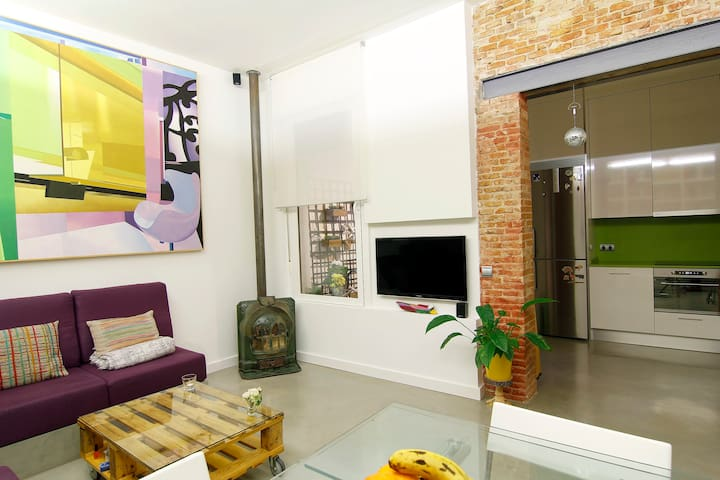 Madrid museums 2 bedrooms 60 sq.m, 5 people