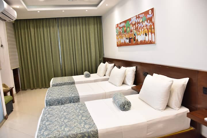 Spacious stay in deluxe twin room