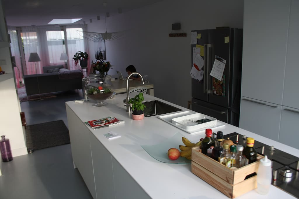 Big open design kitchen. Everything you need is there.