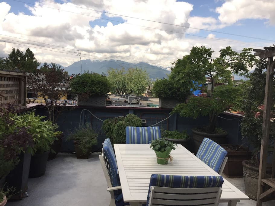 Deck/view of North Shore Mountains