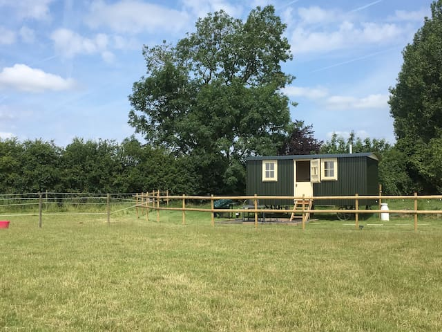 Oxton Hill Hideaway Paddock View Shepherds Hut