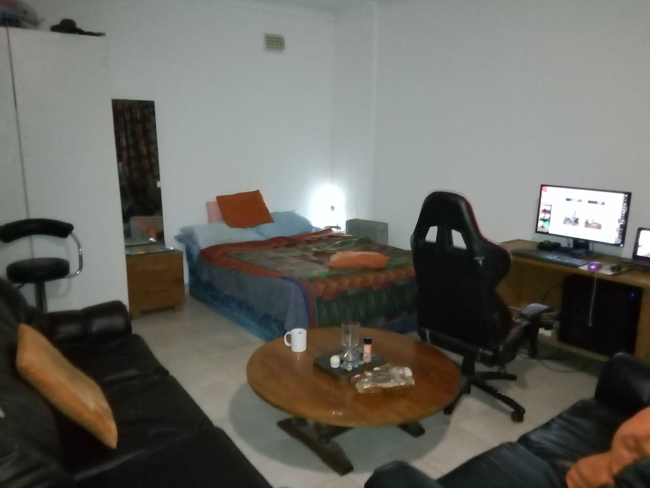 Private space with room for relaxing and entertainment