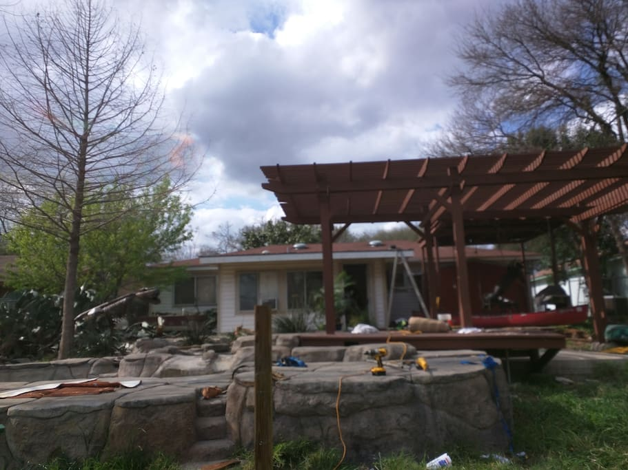 view of backyard recreation area (from greenbelt) - current state
