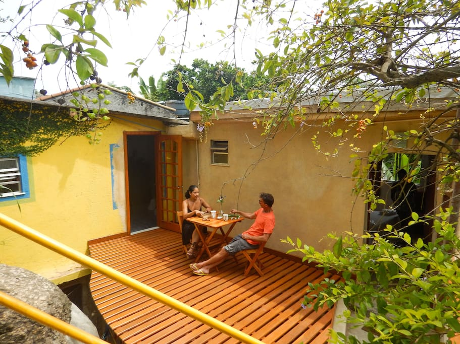 A terrace of the guesthouse