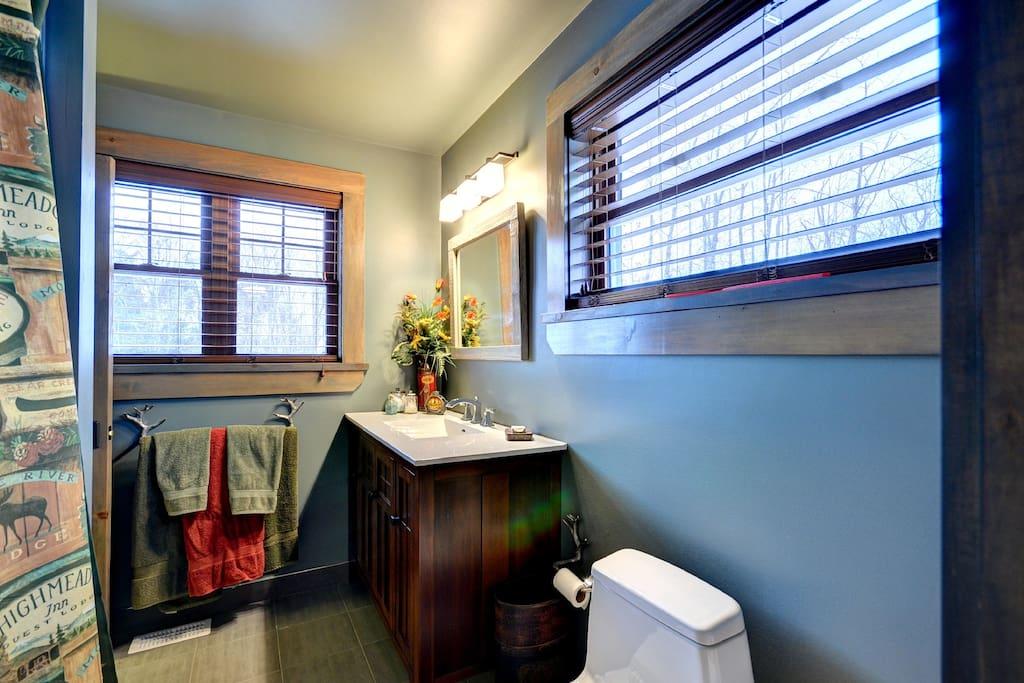 Jack & Jill Bathroom with Heated Floors