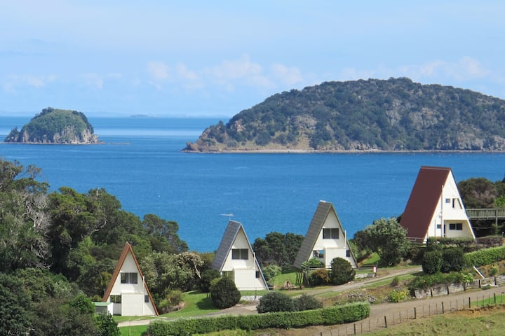 Kakariki - Family  chalet, spectacular sea views.