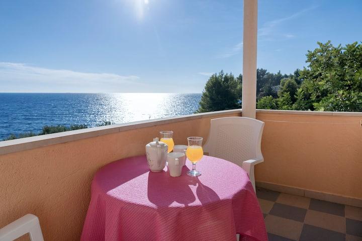 Spila Beach - Studio with Balcony & Sea View A1