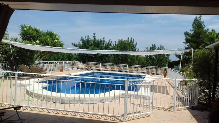 House with one bedroom in Librilla, with wonderful mountain view, private pool, enclosed garden