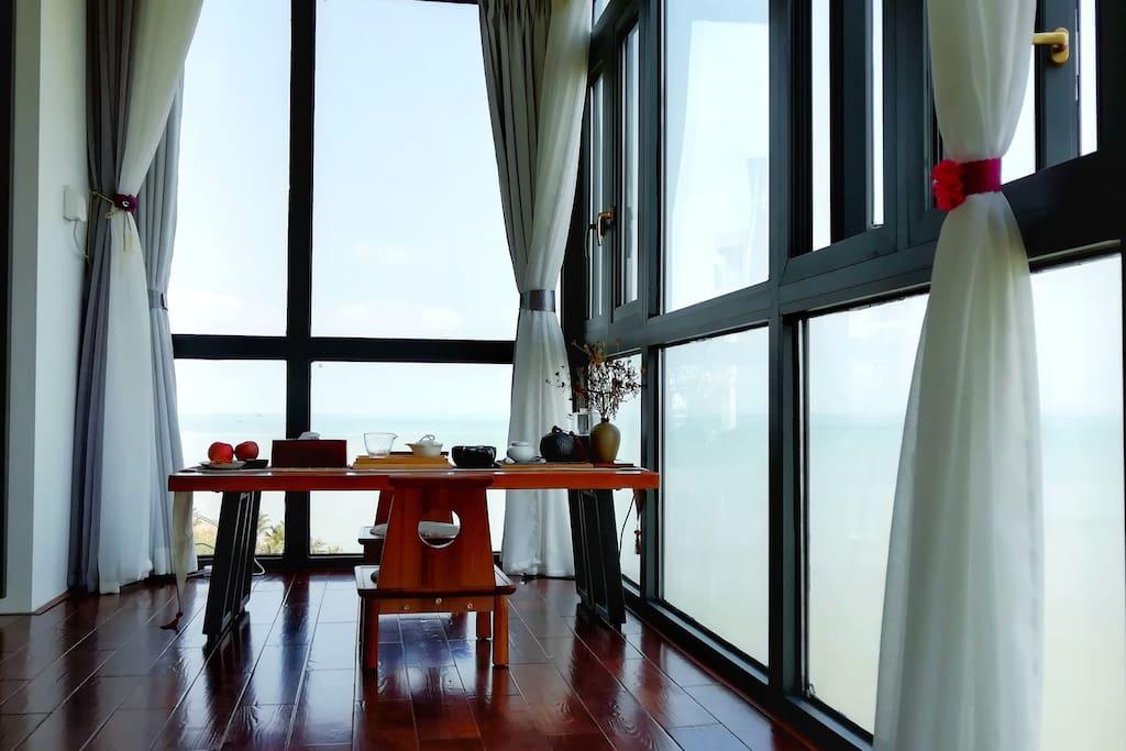 阳台看海茶室