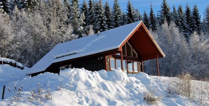 Comfortabel huis met prachtig zicht op Branäs