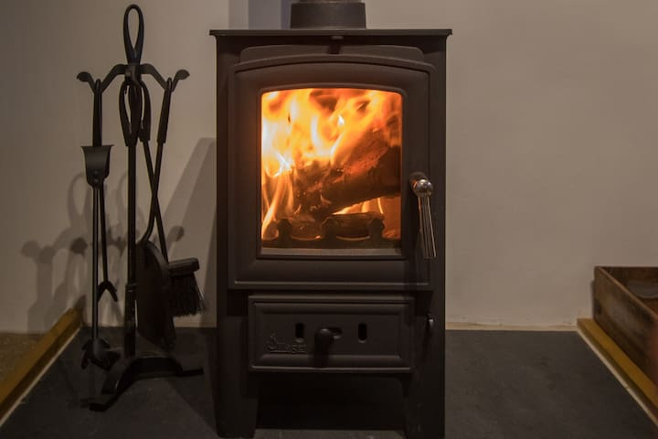 """""""Get toasty by the cosy Wood burner"""""""