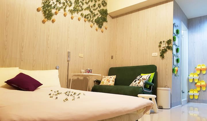 GreenTaipei☺No deposit & No cleaning fee required