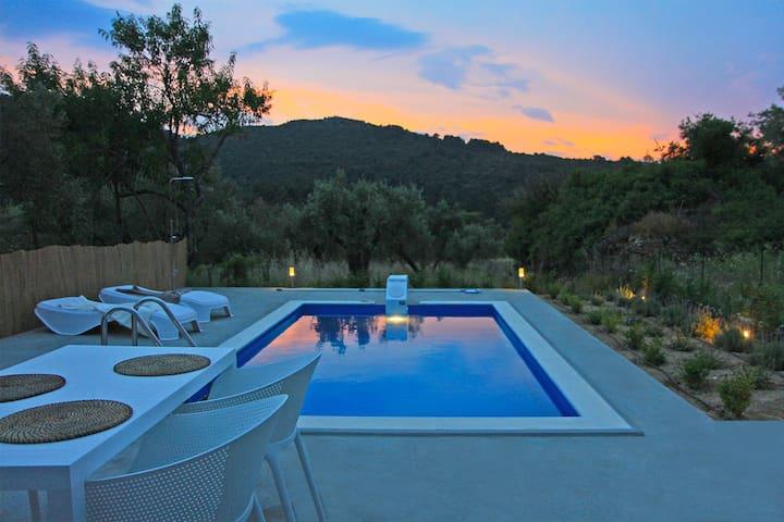 Summertime -private pool villa near Stafilos beach