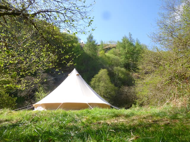 Fantastic Otter Bell Tent at Cledan Valley