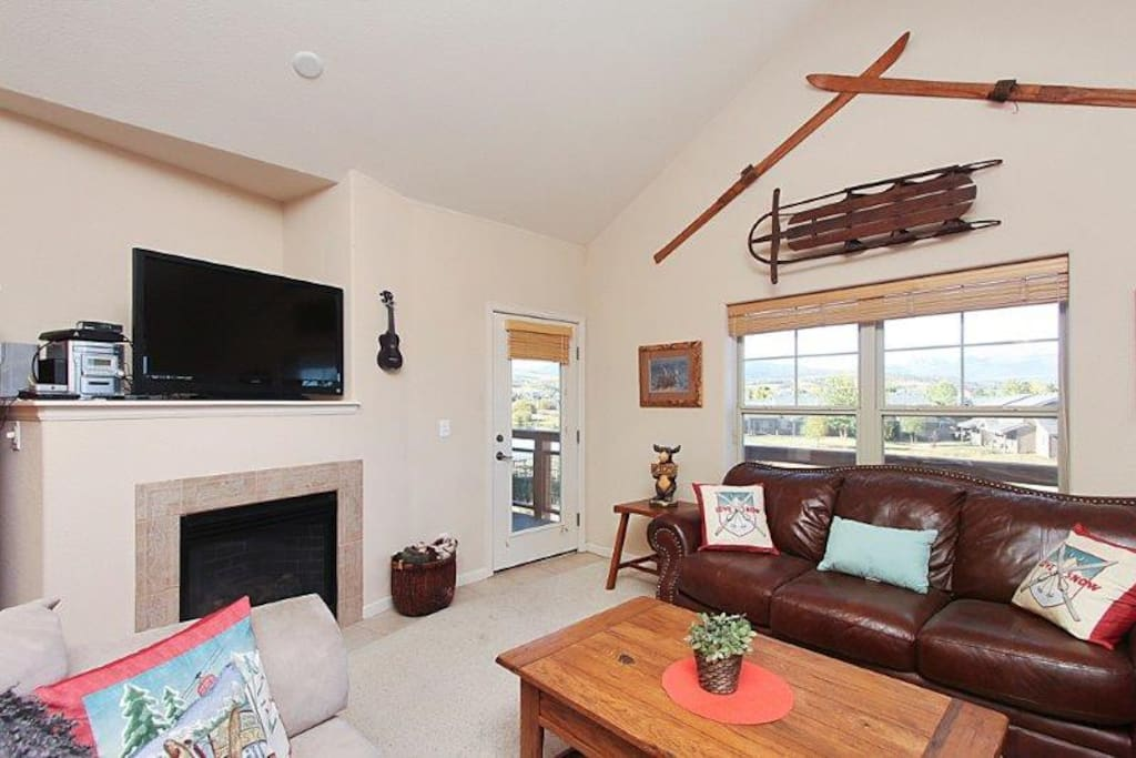 Bright and open with vaulted ceilings