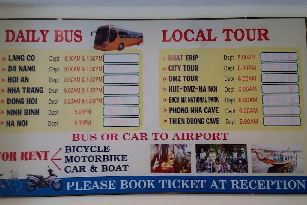 Tours informatiom