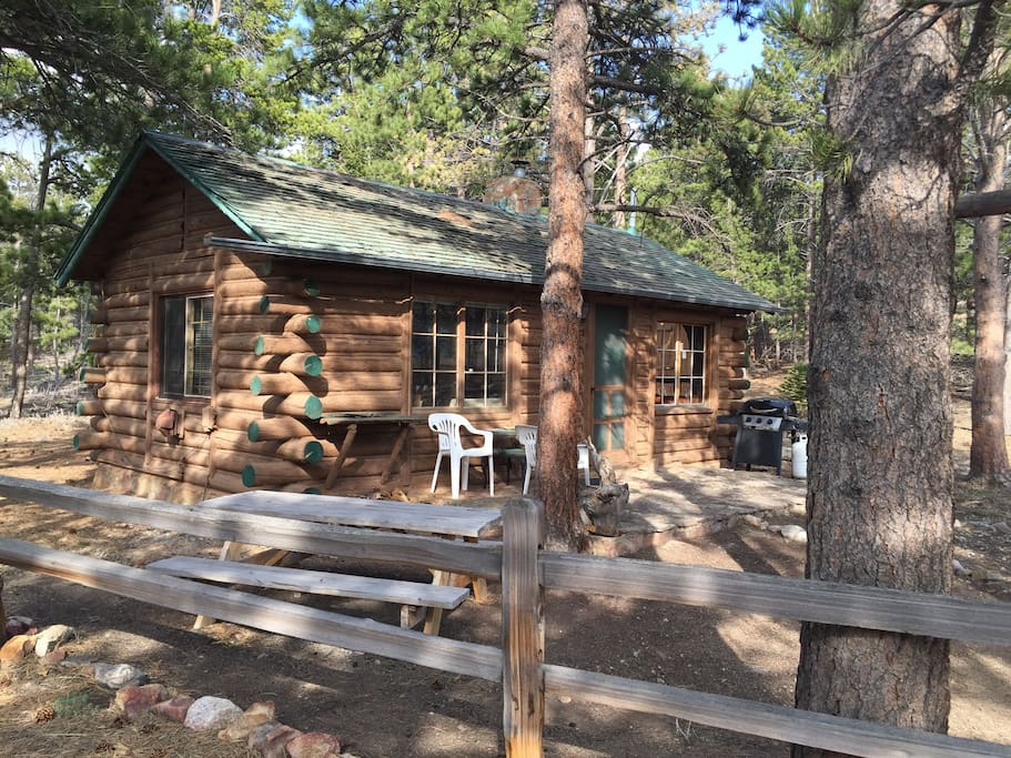Cozy mountain cabin cabins for rent in allenspark for Mountain cabin rentals colorado