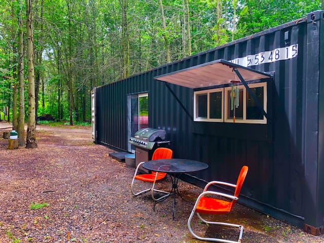 Shipping Container Pad on Secluded Woods, 22 acres