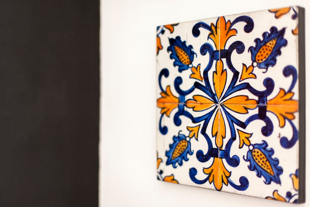 Painting of Typical Portuguese Tile