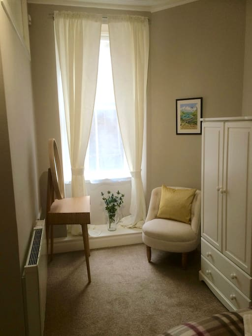 Dressing area of bedroom