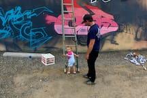 AT THE FOUNDRY - GRAFFITI