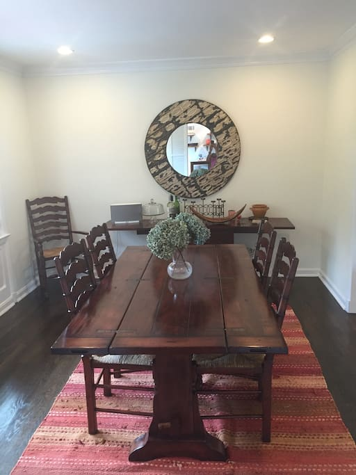 Dining room with buffet.  Room for 6 people