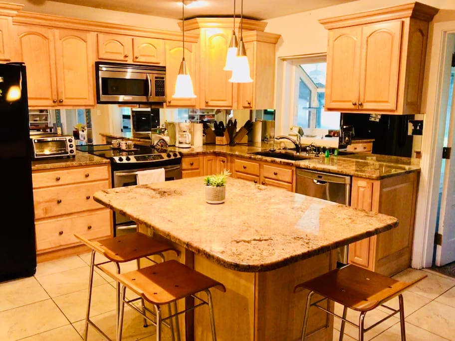 Gourmet kitchen with open plan for great social setting.