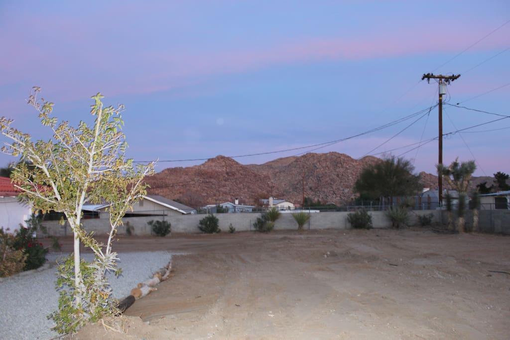 backyard view of side mountain