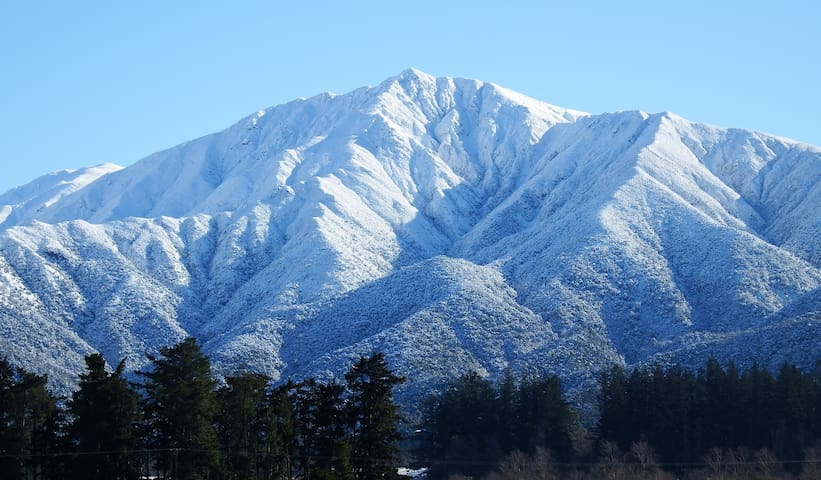 Take a hike up the renowned Little Mt Pee' - a 2-3 hour hike from The Lookout. Here the majestic mountain is pictured after winter snowfall. The entrance to this walk is on your doorstep.