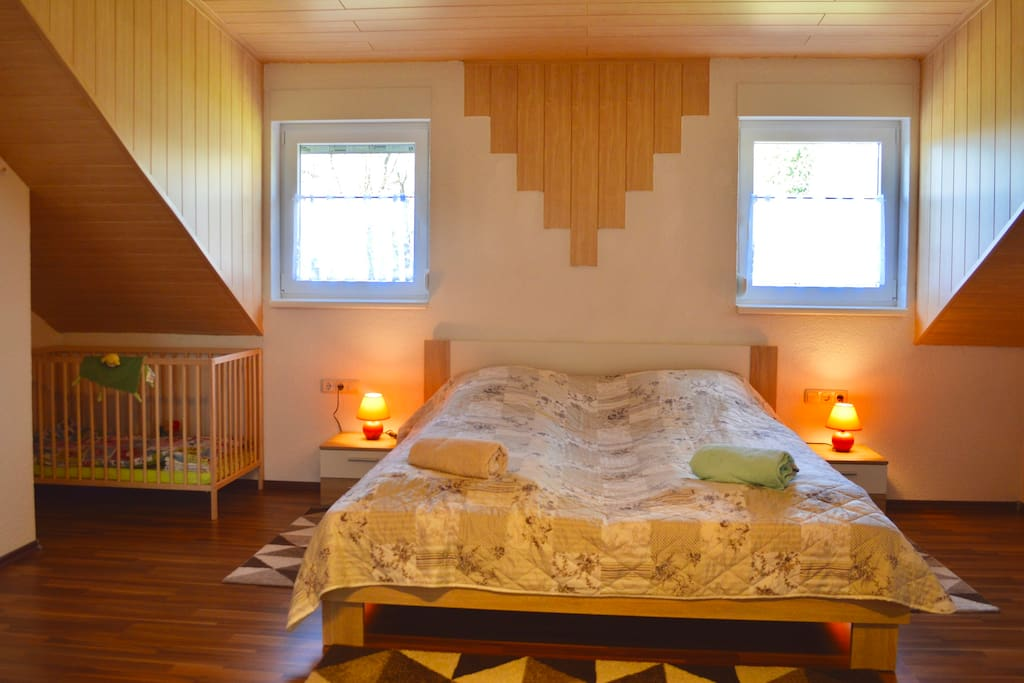 Master-Bedroom with baby bed