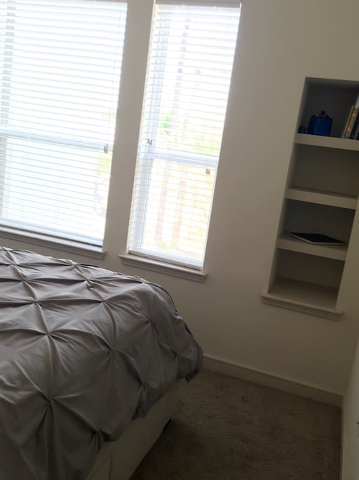 Master Bedroom - built in shelves for pantry items or other storage if needed.