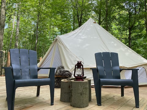 A Romantic Forest Glamping Getaway