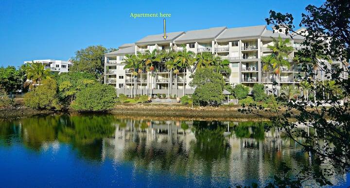 1br spacious riverfront unit, entire apartment