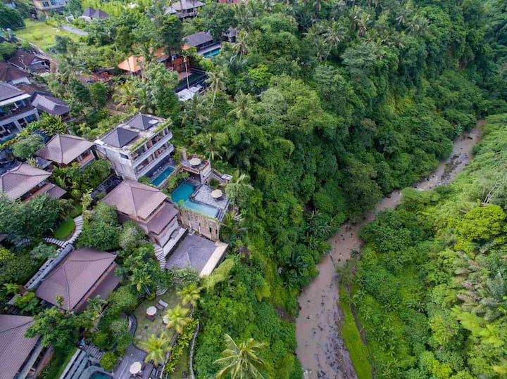 *Ubud Paras Villa* 1.Deluxe Room with river view