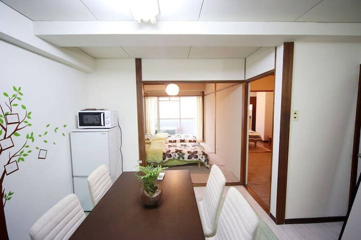 [5F]7min walk Hakata Sta.and Canal city Free Wifi☆