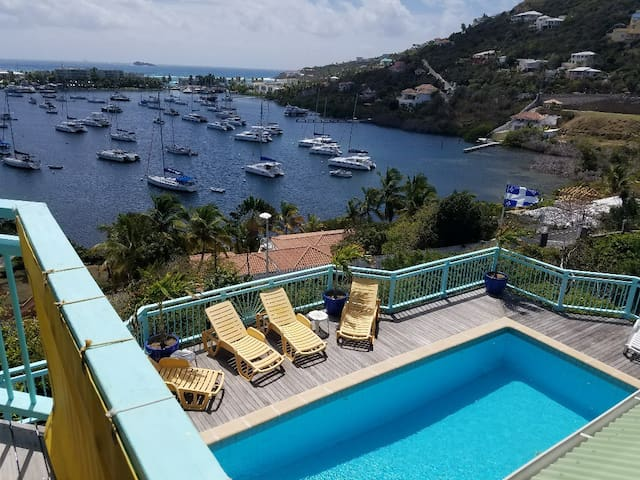 Spacious 1 bedroom, private deck, spectacular view - St Martin - 別荘