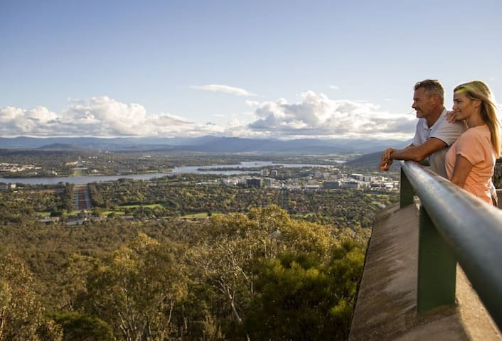 Great views over Canberra from Mt Ainslie