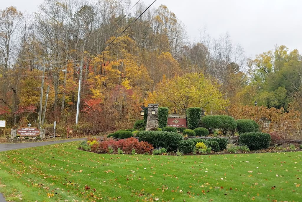 Main entrance to the Country Club during Fall season.