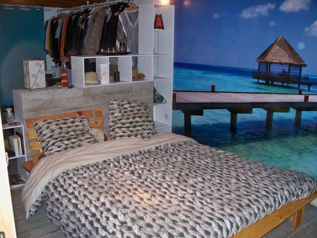 1ère chambre avec lit et dressing