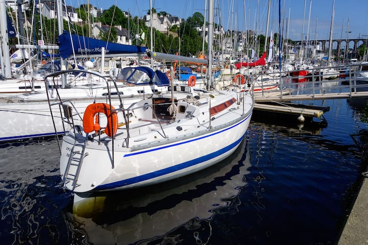 Séjour atypique sur un voilier au port de Morlaix