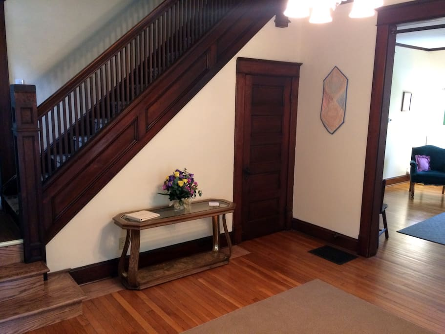 From the front door into the foyer and stairs to 2nd floor