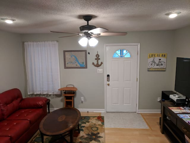 "Living Room, 55"" smart 4kTV (Direct TV), xbox360, board games"