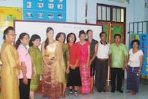 Traditional dress event at the school