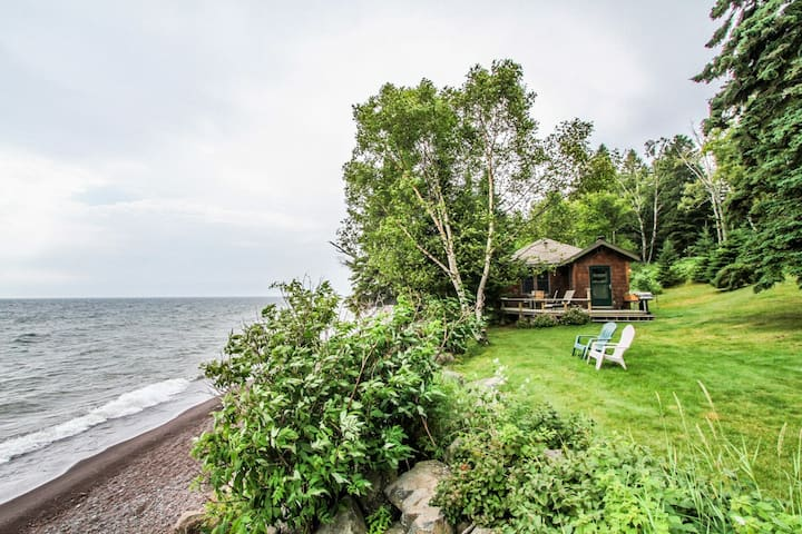 Namaste Guest is a darling cottage on the shores of Lake Superior near Lutsen, MN