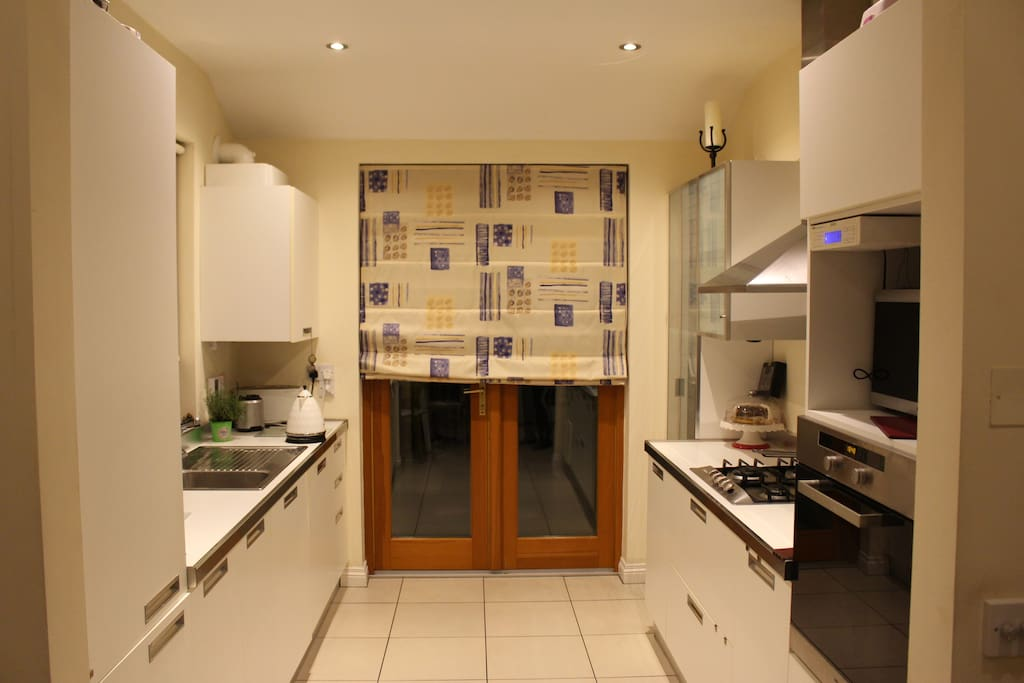 Kitchen and access to rear garden