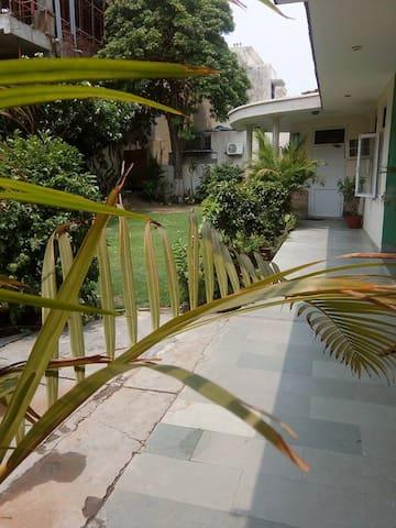 A view of the veranda