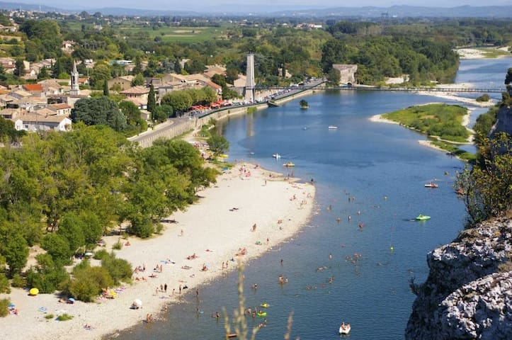 Beautiful Studio by the river - Saint Martin d'Ardèche - Apartamento